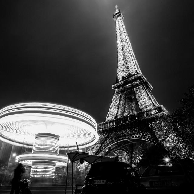 """A night in paris"" stock image"
