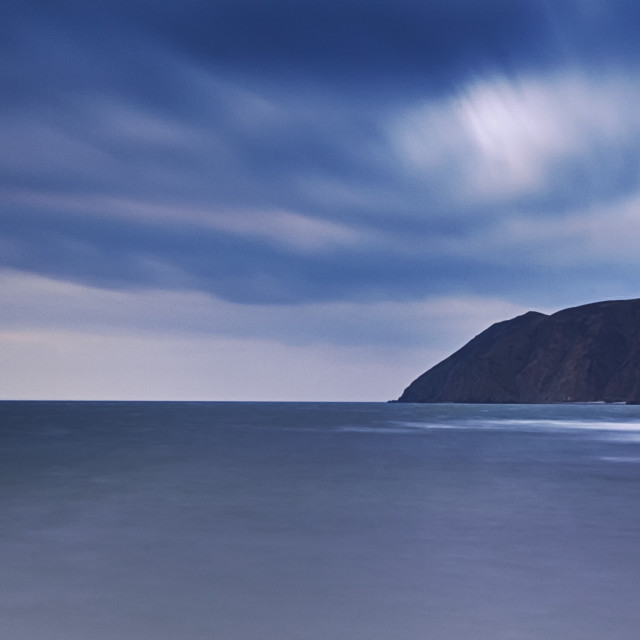 """Across Lynmouth bay"" stock image"