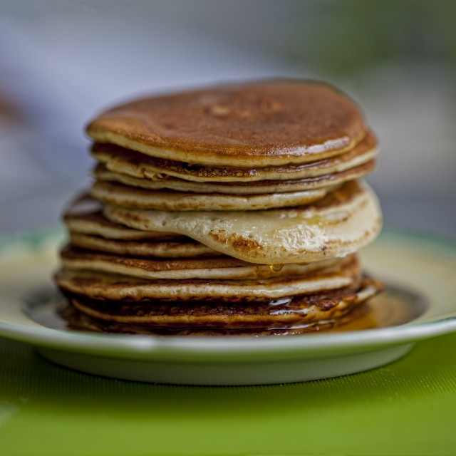 """Honey pancakes"" stock image"