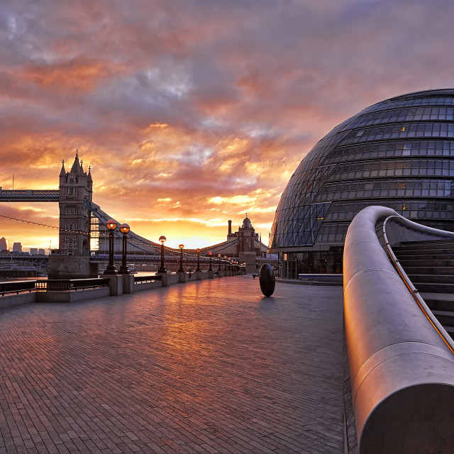 """Sunrise in London"" stock image"