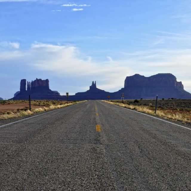 """On the road in Indian lands"" stock image"