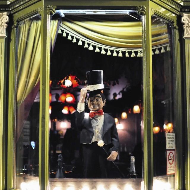 """The Colonnade Bar, Brighton"" stock image"