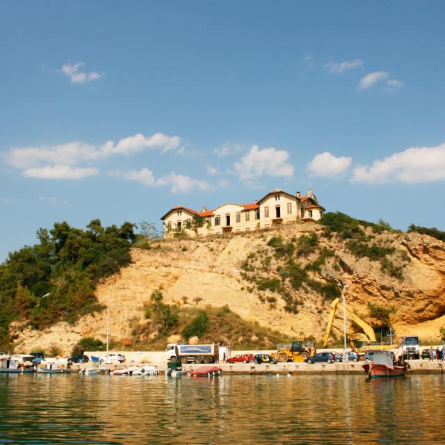 """Limenaria, Thassos island, Greece"" stock image"