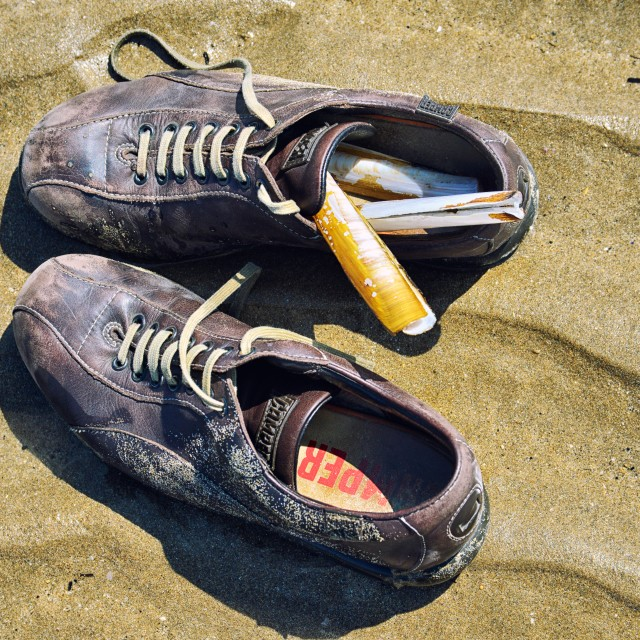 """""""Shoes on a beach"""" stock image"""