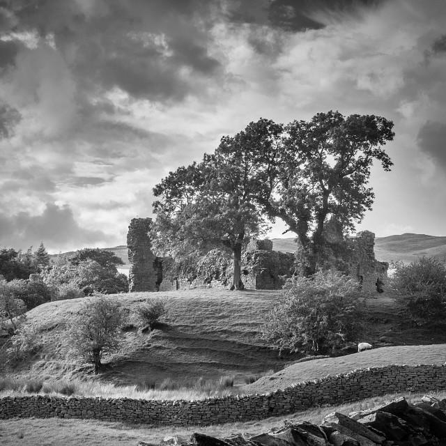 """Moody Castle of Pendragon"" stock image"