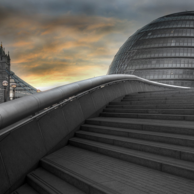"""South bank early morning"" stock image"