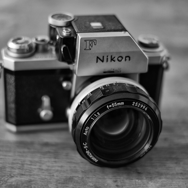 """Old Nikon"" stock image"
