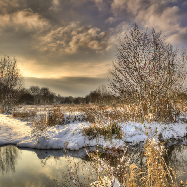 """Winter time in Marlow"" stock image"