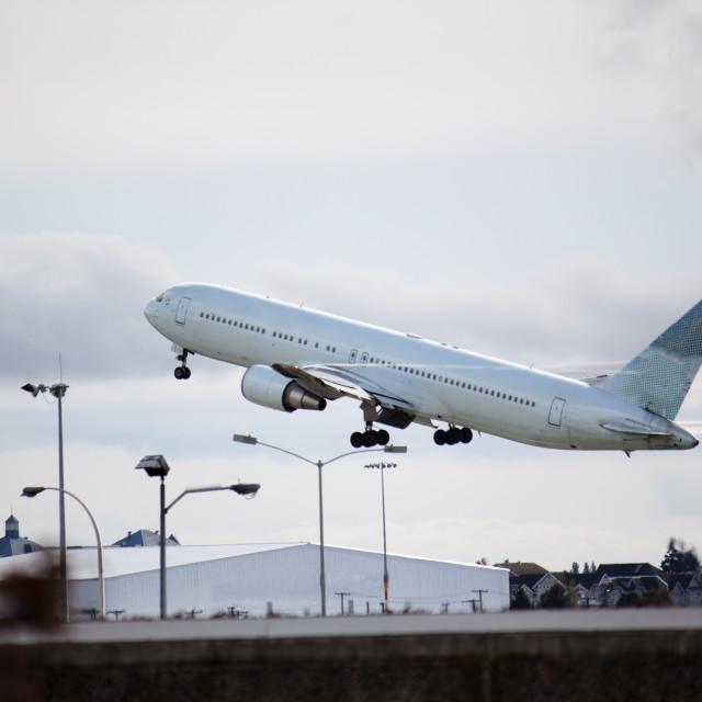 """Plane Taking Off"" stock image"