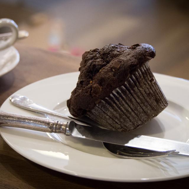 """Chocolat Muffin"" stock image"