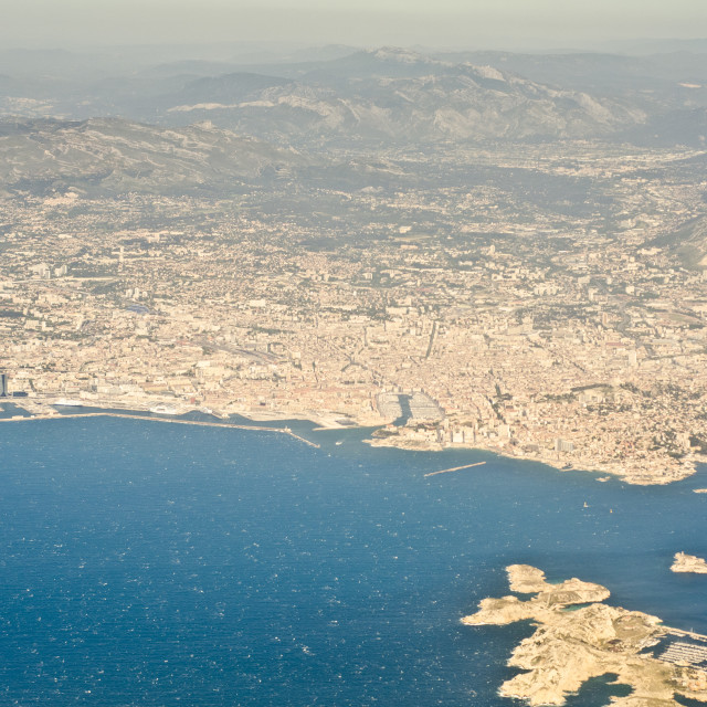"""Marseille from the air"" stock image"