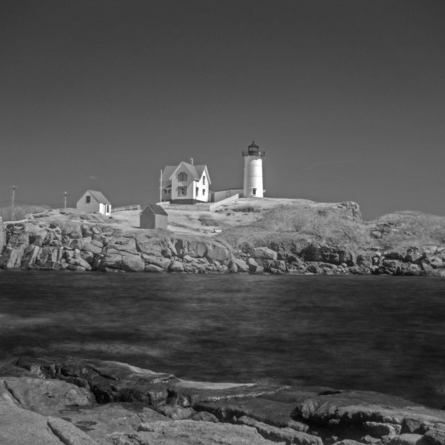 """Nuble Light House - Infra-red"" stock image"