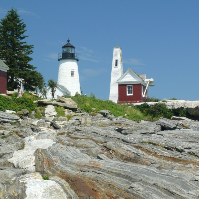 """Pemaquid Point Lighthouse"" stock image"