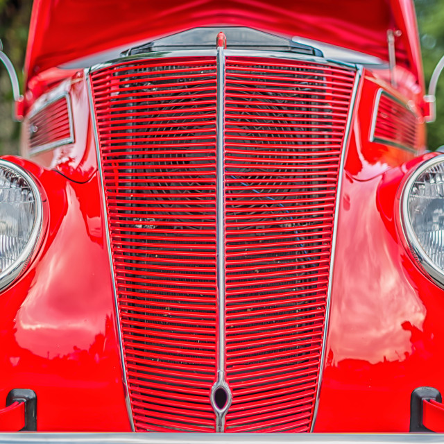 """Old Red Ford"" stock image"