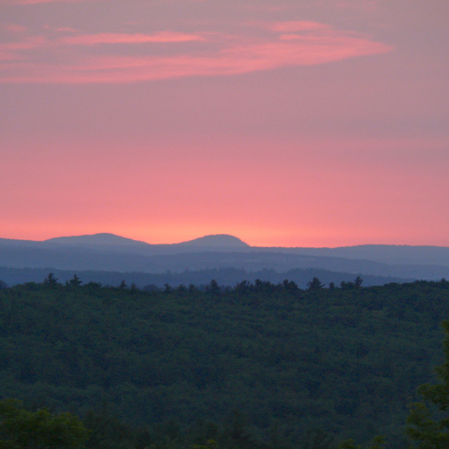 """Sunrise in New Hampshire"" stock image"
