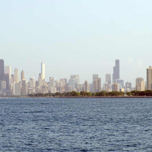 """Hazy Chicago"" stock image"