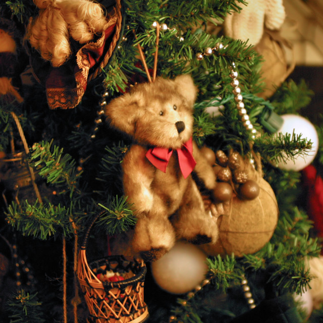"""Christmas Teddy Decoration"" stock image"