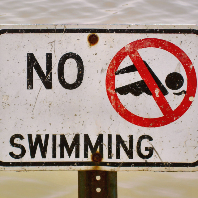 """No Swimming"" stock image"