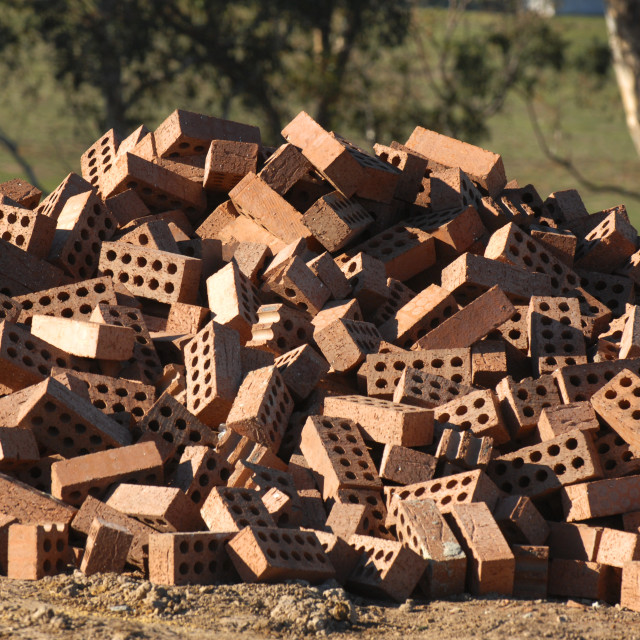 """Pile of Bricks"" stock image"