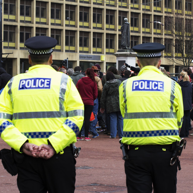"""Strathclyde Police, Glasgow, Scotland, UK"" stock image"