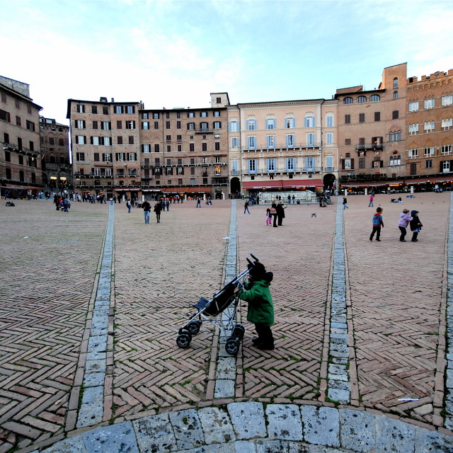 """Toddling in Siena"" stock image"