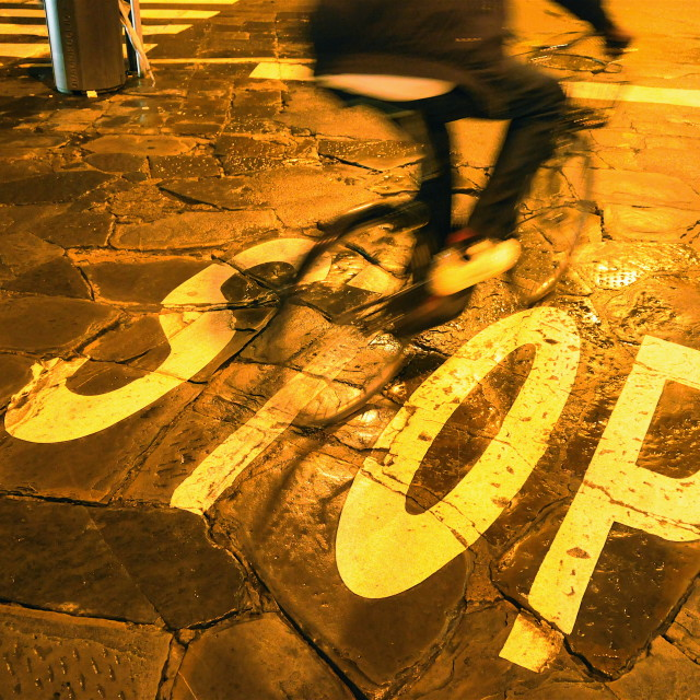 """""""Stop - or don't"""" stock image"""