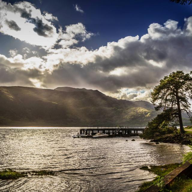 """Rowardennan, Scotland, UK"" stock image"