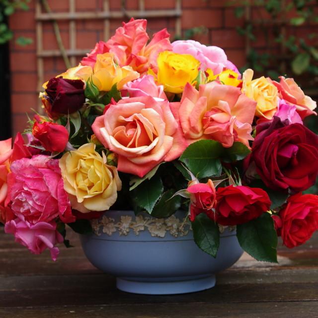 """""""Flowers arrangement in vase"""" stock image"""