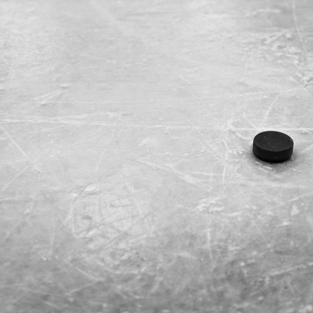 """""""Time For Puck!"""" stock image"""