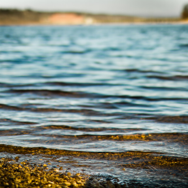 """Pebbled Beach"" stock image"