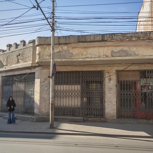 """Poor Area Urban Scene"" stock image"