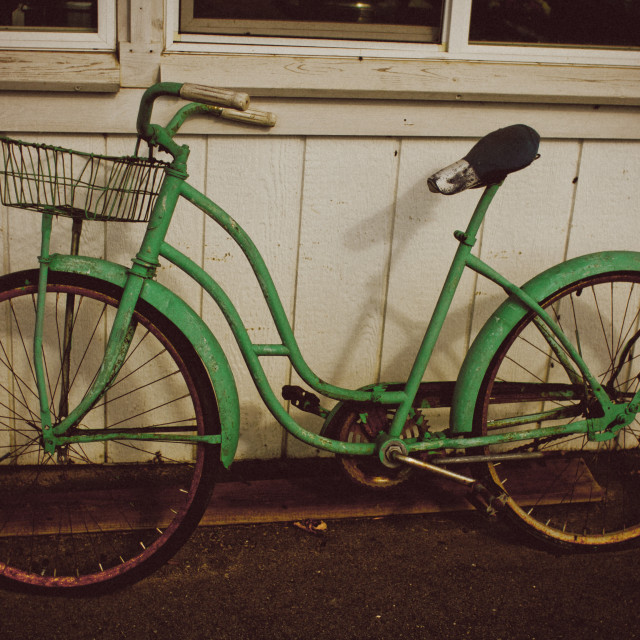 """The Green Bicycle"" stock image"