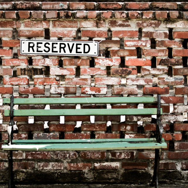 """Reserved"" stock image"