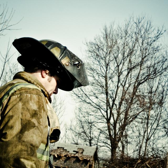 """Firefighter"" stock image"