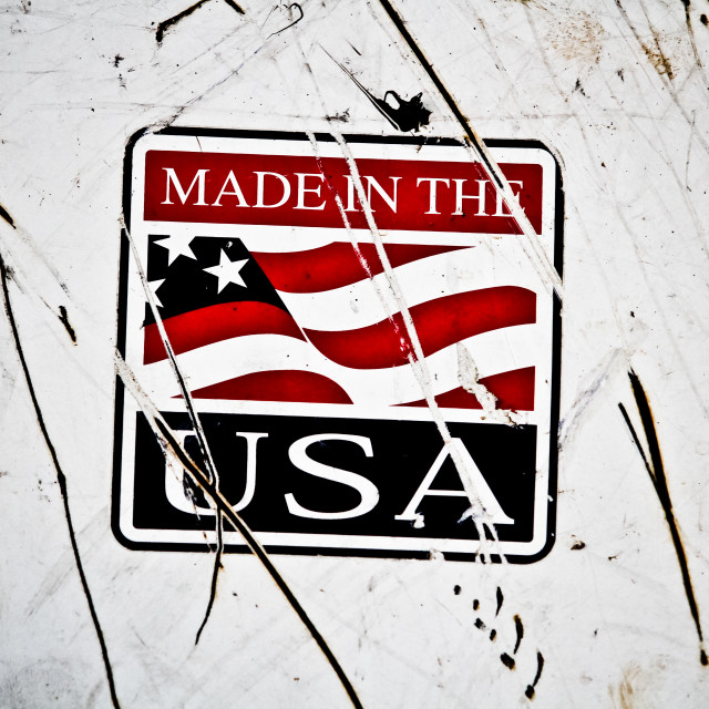 """""""Made in the USA"""" stock image"""