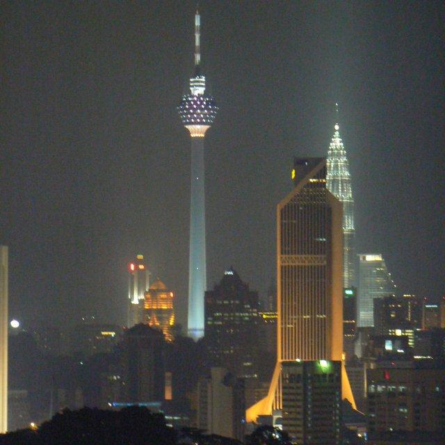 """""""Kuala Lumpur at night"""" stock image"""