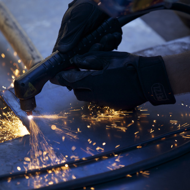 """Plasma Cutting"" stock image"