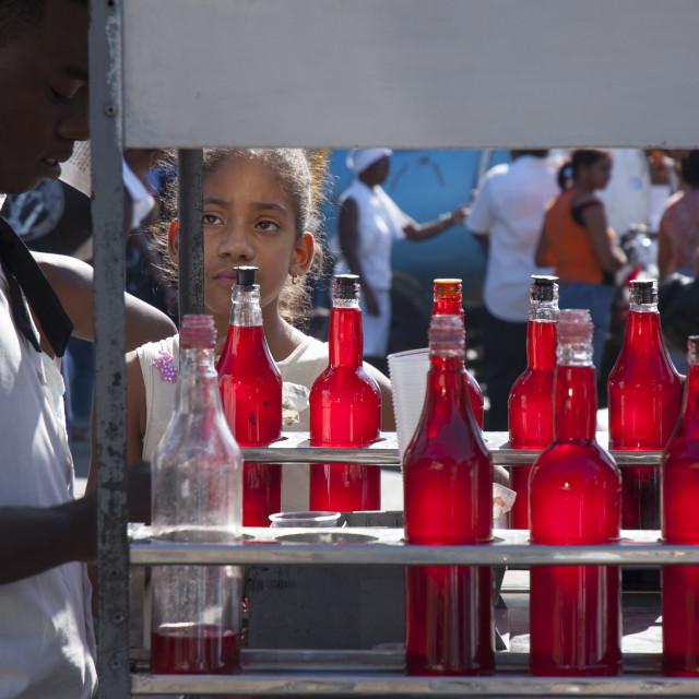 """Havana street vendor"" stock image"