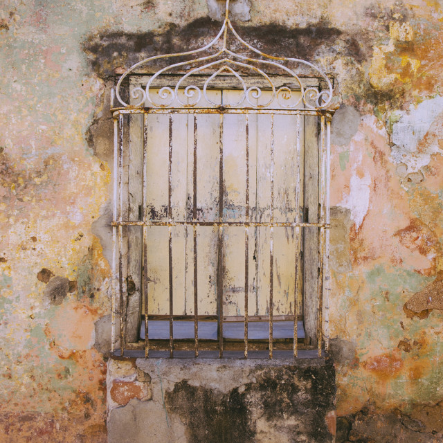"""Cuba window"" stock image"