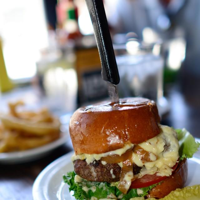 """Juicy Cheeseburger"" stock image"