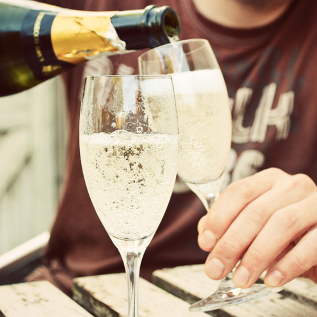 """Drinking prosecco"" stock image"