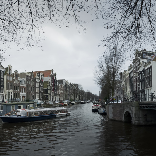 """Amsterdam Canal Cruise"" stock image"