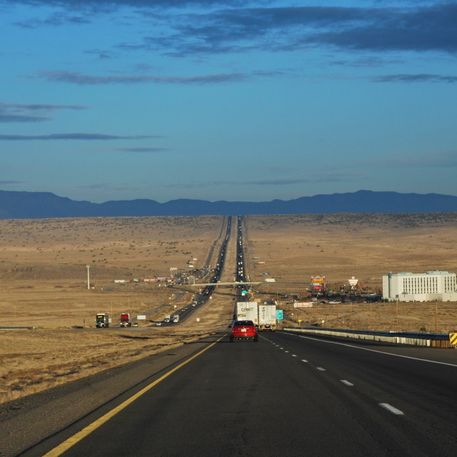 """Driving to Albuquerque"" stock image"