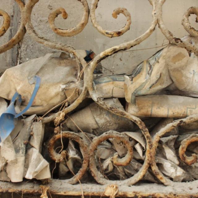 """Old Balcony"" stock image"