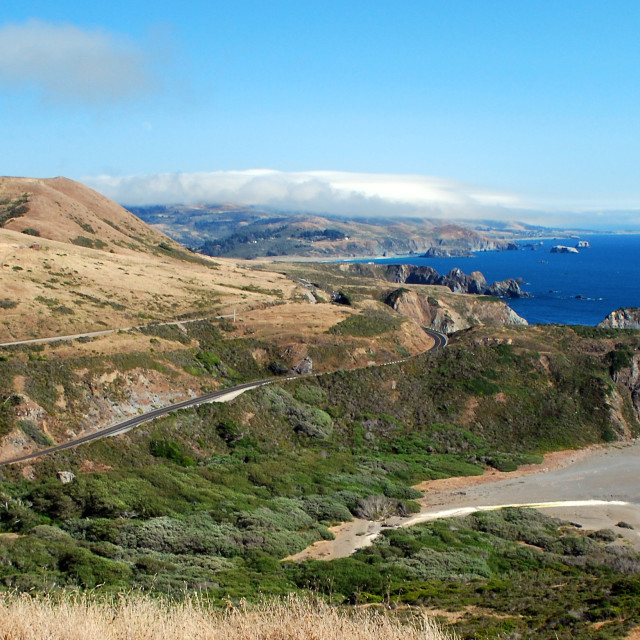 """Pacific Coast Highway, California"" stock image"