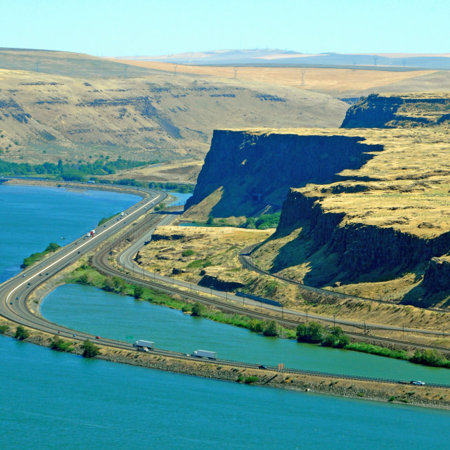 """Columbia River Gorge, Oregon"" stock image"