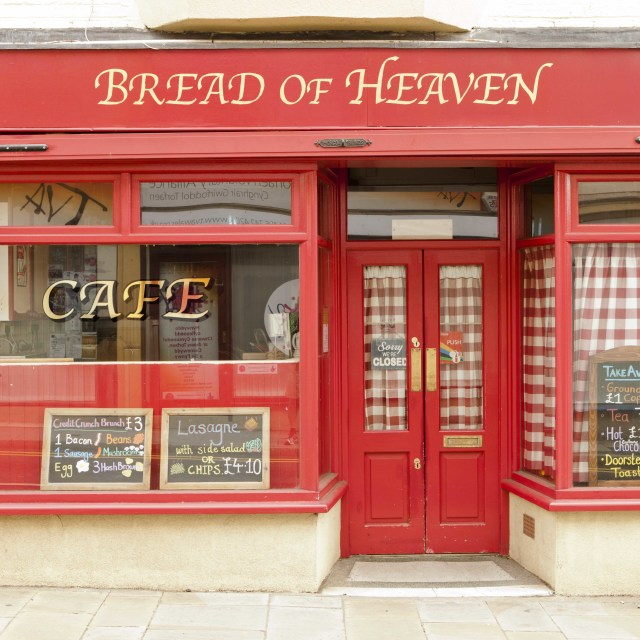 """Bread of Heaven Cafe"" stock image"