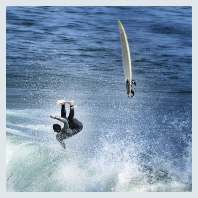 """Surfer Wipeout"" stock image"