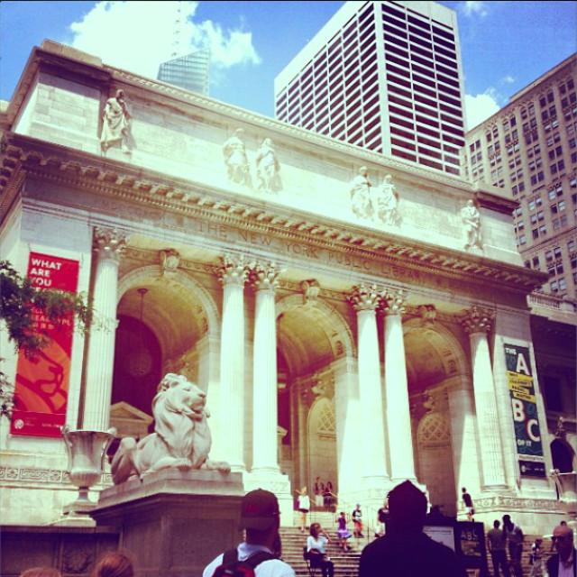 """New York Public Library - 5th Avenue"" stock image"