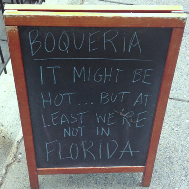 """""""At Least We're Not In Florida Sign"""" stock image"""